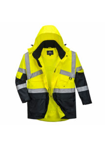 Hi-Vis kéttónusú lélegző kabát