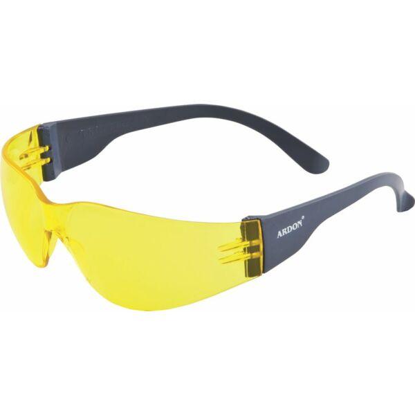 V9 sárga lencséjű védőszemüveg